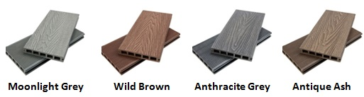 WPC Decking Colours
